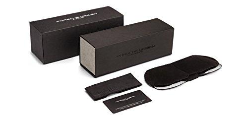 c8bb517b4436 PORSCHE DESIGN P8478D Aviator Sunglasses Black Matte Frame Size 60 + Extra  Lens