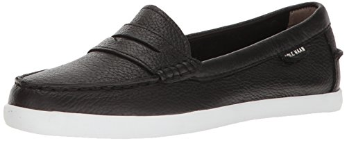 Cole Haan Women's Pinch Weekender Penny Loafer, Black White Stripe, 7 B US