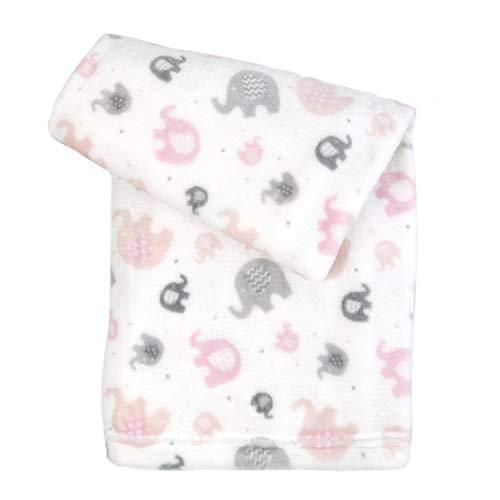 (Tadpoles G01 30x40 Ultra-Soft Microfleece Plush Elephant Baby Blanket Blanket in)