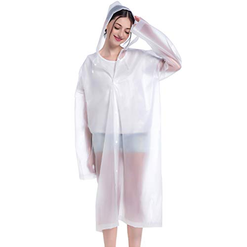 Slymeay Rain Poncho Raincoat Women Rain Hooded Coat Rain Jacket Travel Outdoor Light Poncho Rain Gear