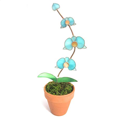 ss Orchid in Pot - 3D Flowers - Bridal Gift ()