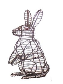 Platinum Choice Products Topiary Wire Frame Upright Sitting Rabbit - Add Live or Artificial Plants for a Centerpiece Works of Art