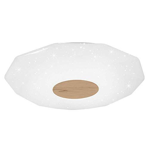 - Mengzhu-Michelle Modern Round Ceiling Lamp LED Ceiling Lamp Dimmable Simple Ceiling Lighting Living Room Bedroom Kids Room Acrylic Wood Starlight Inner Lighting Ø47 H7 cm 24W 1680 Lumens 3