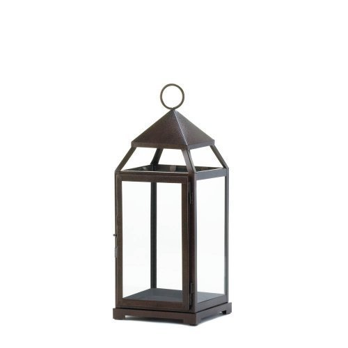 Bronze Modern Candle Lantern - 18 inches