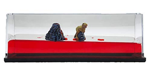 Universal Specialties Liquid Wave Paperweight Desk Toy (Dinosaur & Volcano)