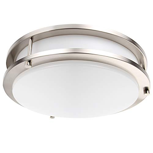 Lineway LED Flush Mount Ceiling Light Motion Sensor Round Ceiling Lamp for Hallway Stairway Garage Porch Kitchen Laundry Room (12 Inch, 18 W, 1200LM, ()