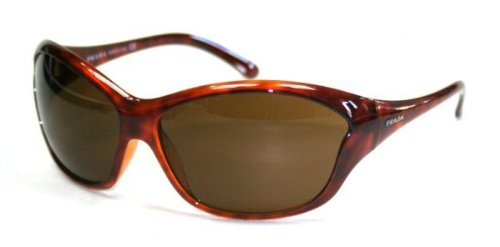 Prada Ladies Havana Oversized Butterfly Sunglasses With Bronze Lenses SPR25G 2AU - Sunglasses Butterfly Prada