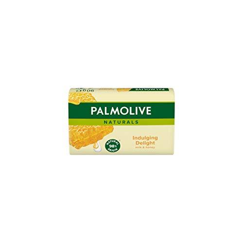 Palmolive Seife Naturals Milch & Honig, mit Milch- und Honig-Extrakten, feste Seife 36er Pack(36 x 90 g)