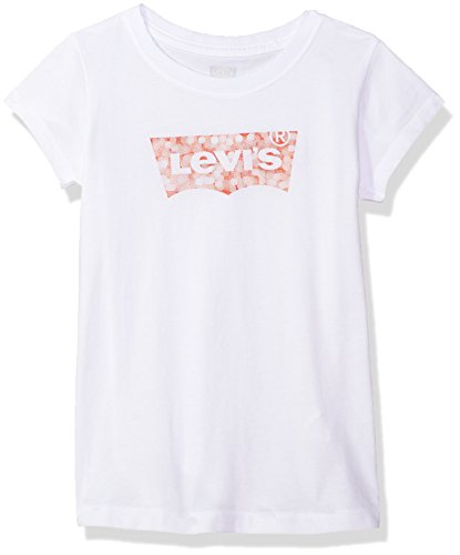 Levi's Girls Classic Batwing T-Shirt, Red/White, 4