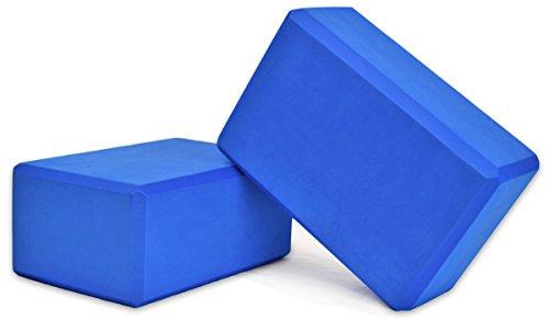 YogaAccessories High Density Foam Yoga Blocks (Set of 2) - Blue, 9