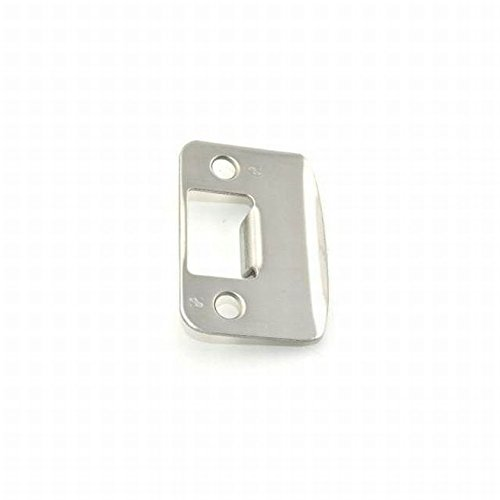 Schlage 10027 Strike Satin Chrome Finish, Mounting Screws Included for Appropriate Parts Round Corner Full Lip Strike Lifetime Mechanical & Finish Warranty ()