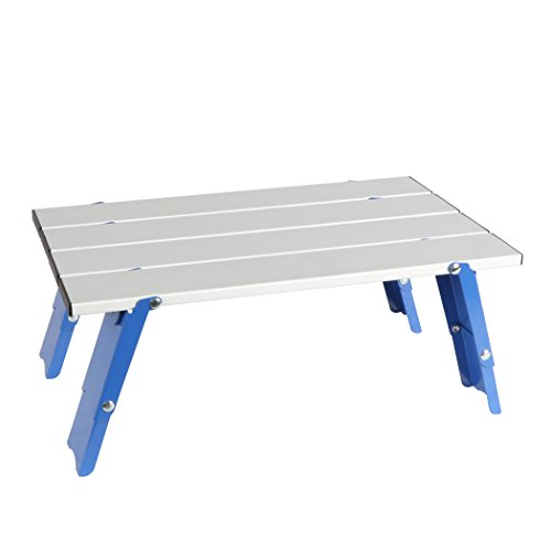 PORTAL Personal Aluminum Folding Table for Beach Sand Camping, Small (Small Picnic Table)