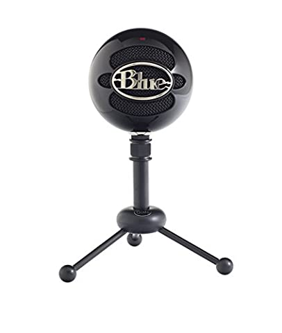 Blue Microphones Snowball USB Microphone, Cardioid Mode(Gloss Black) (Blue Mic)