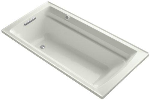 Kohler K-1124-G-NY Archer 6Ft Bubblemassage Bath with Comfort Depth Design, Dune ()