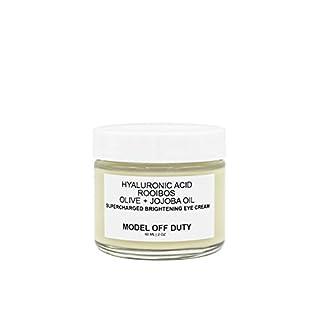 Model off Duty Beauty Supercharged Brightening Eye Cream | Natural & Organic Eye Cream | Hyaluronic Acid, Rooibos, Vitamin E, Aloe Vera | Reduce Age Spots, Dark Circles, Eye Puffiness, Wrinkles 2.0 oz