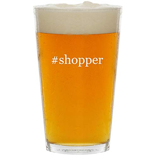 (#shopper - Glass Hashtag 16oz Beer Pint)