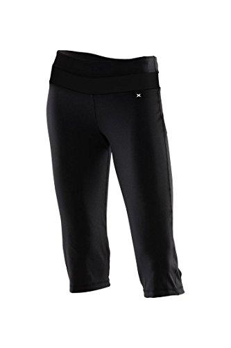 2XU Free Fit 3/4 Des Collants Noirs Tous Sport / Courir (Power X) HSO 1802