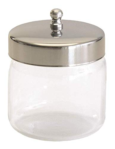 "Grafco Pyrex Glass Storage Jars with Aluminum Lids, 3x3"", 3460P (Pack of 12)"