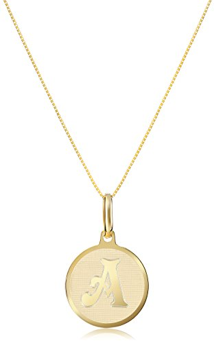 Initial 14k Yellow Gold Pendant - 14k Yellow Gold Initial A Pendant Necklace, 18