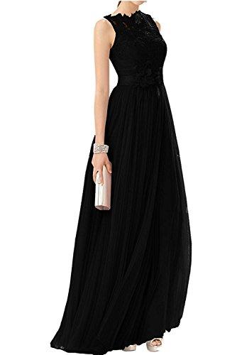 Tuell Schwarz Langes mia Promkleider Rosa Linie A Rock Festlichkleider Damen Spitze Abschlussballkleider Braut Abendkleider La 6Bnw7xRx