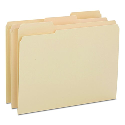 Smead Heavyweight File Folder, Reinforced 1/3-Cut Tab, Letter Size, Manila, 100 Per Box (10434) ()