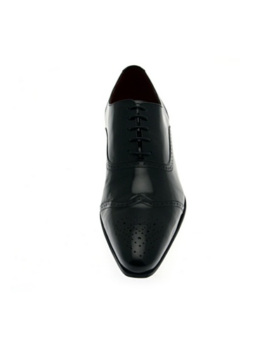 Pierre Cardin - Zapatos de cordones de charol para hombre negro negro negro