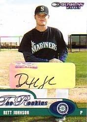2003 Donruss Rookies Autographs #35 Rett Johnson/1000 Near ()