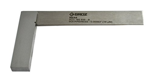 Groz 01003 SS/A6 Precision Steel Engineering Square, 6