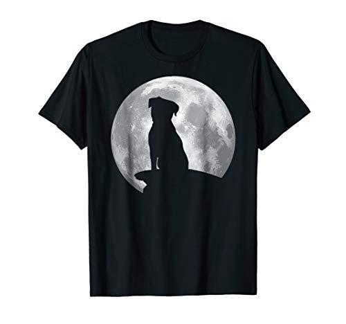 Border Terrier Eclipse Full Moon T-shirt Halloween Costume ()