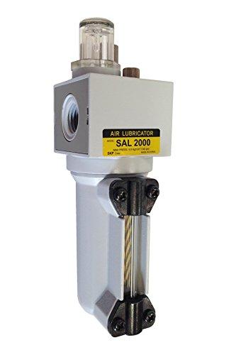 PneumaticPlus SAL2000M-N02B-MEP Miniature Compressed Air Lubricator 1/4'' NPT - Metal Bowl, Bracket by PneumaticPlus