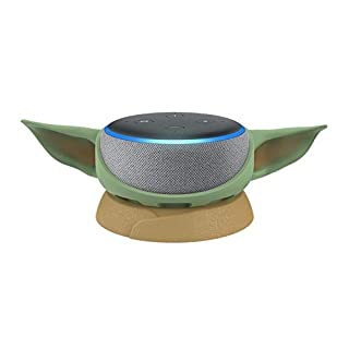 Echo Dot (3rd Gen) Heather Gray with Mandalorian The Child stand
