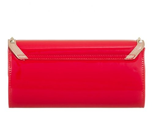 Wedding Out Fuchsia Prom Women's LeahWard Handbag Clutch Bag Night Purse Patent 875 SfwZzqI