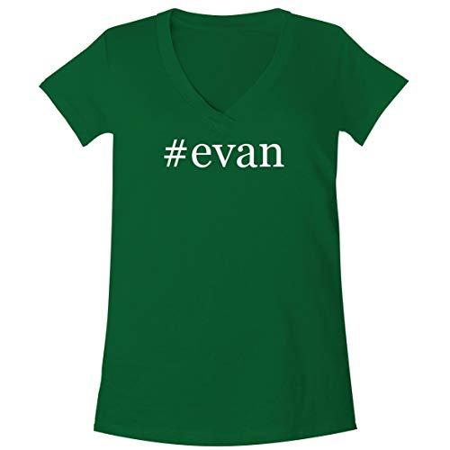 #Evan - A Soft & Comfortable Women's V-Neck T-Shirt, Green, Medium ()