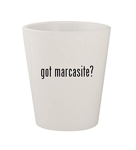 got marcasite? - Ceramic White 1.5oz Shot Glass ()