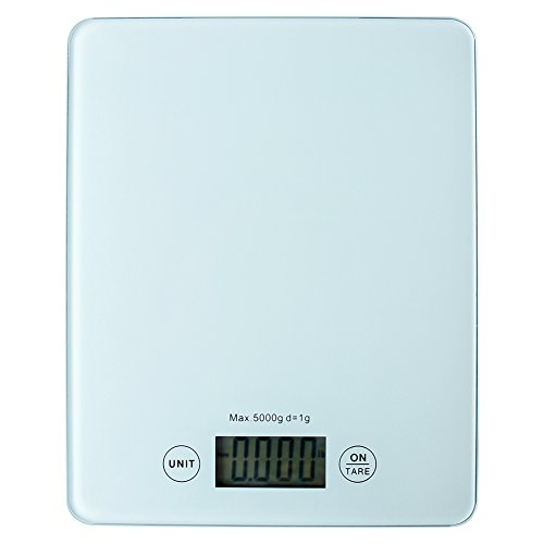 5kg 1g LCD Digital Scale Electronic Kitchen Weight Tool(WHITE) - 2