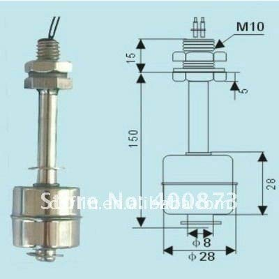(Liquid float switch water levelr stainless steel L:150mm)