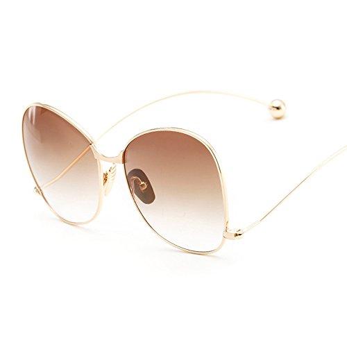 BVAGSS Modern Fashion Women's Sunglasses Mirrored Glasses WS019 (Gold Frame, Brown - Sunglasses Men For Modern