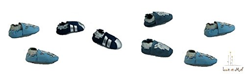 Lait et Miel - Patucos de piel para bebé con diferentes diseños azul Eichhörnchen Talla:6-12 meses rana