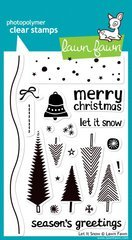 Lawn Fawn - Clear Acrylic Stamps - Christmas - Let It Snow (Acrylic Stamps Lawn Fawn)