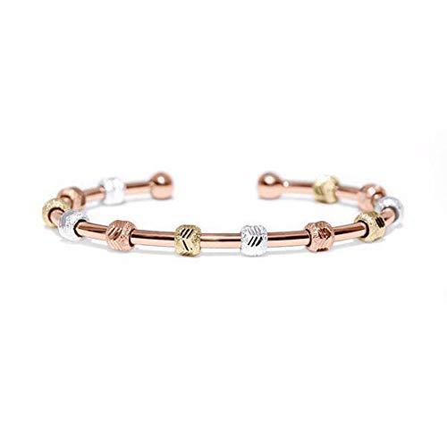 Golf Goddess Stroke/Score Counter Bracelet - Tri Color with Rose Gold Cuff ()