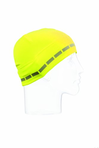 Seirus Innovation 8076 Hi-Vis Dynamax Skull Liner Beanie - Ultra Stretchy Snug Form-fit Design, High-Visibility Yellow Cap, One (Form Fit Design)