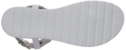 Inuovo RAMBUTAN Damen Knöchelriemchen Sandalen Weiß (WHITE LEATHER)