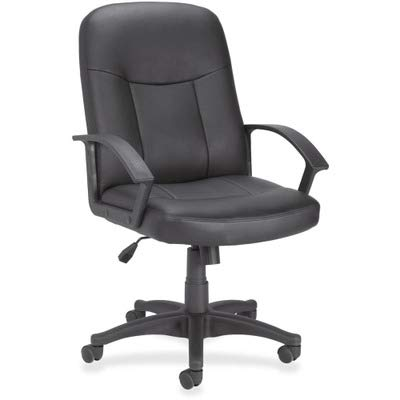 LLR84869 - Lorell Leather Managerial Mid-Back Chair ()