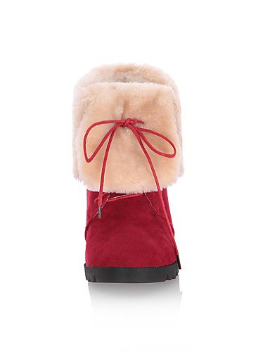 Botas Brown Marrón Cn36 Vestido Tacón De Redonda Cn35 Xzz Mujer 5 negro Cuña La Uk3 Rojo Cn3 Vellón Casual Punta us5 Brown A us6 Eu36 Cuñas 5 Uk4 Zapatos Moda 8aBq7nBU