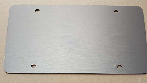 - Blank Silver Aluminum Brush Vinyl Wrap Stainless Steel License Plate
