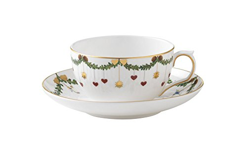 Royal Copenhagen Star Fluted Christmas Tea Cup and saucer 32 cl ()