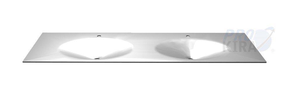 PELIPAL SOLITAIRE 6010 Krion-Waschtisch / KDWT 54-1830 / Weiß matt / 183x0,9x49,8cm