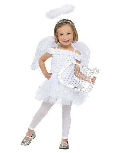 Angel Costumes For Little Girls (Fun World Costumes Baby Girl's Little Angel Toddler Costume, White, Small(24Months-2T))