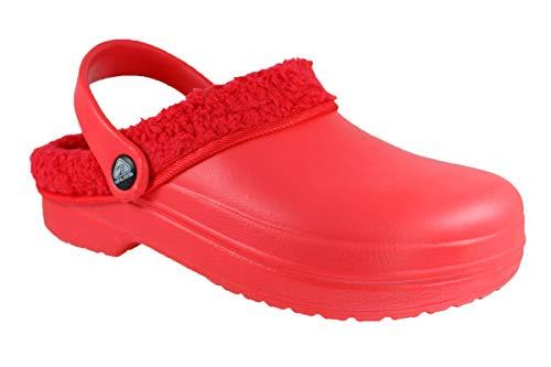 Ba67mt Sabots Caucho Rojo Zuecos Buyazzo Mujer De T0dxznqw
