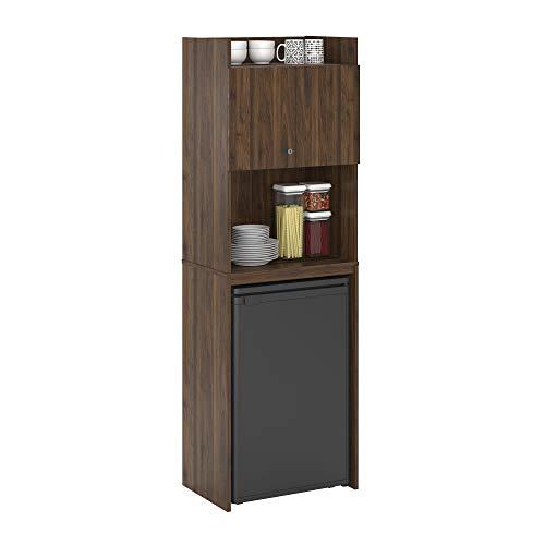 Ameriwood Home Clarkson Mini Refrigerator Storage Cabinet, Walnut